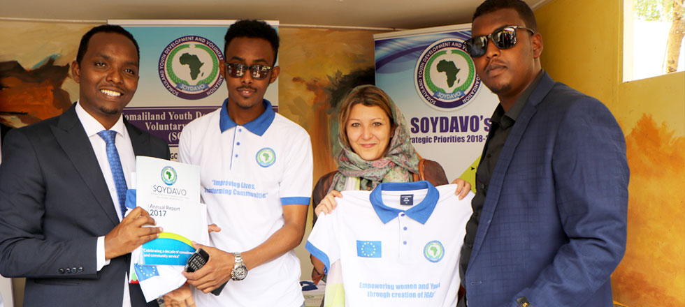 SOYDAVO staff members and the EU delegates at Hargeisa International Book Fair - HIBF