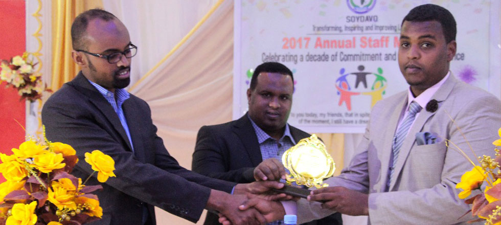 Awarding SOYDAVO's Employee of the Year 2017